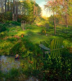 Backyard in Spring. By: Scott Prior.