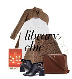 """""""library"""" by achromaticism ❤ liked on Polyvore featuring Prada, Alexander Wang, Valextra and Victoria Beckham"""