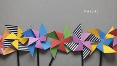 Pinwheel party favor DIY + free template here http://ohhappyday.com/2012/01/pinwheel-party-favor-diy-free-printable/    by Amanda J. Jones