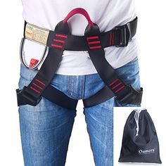 Climbing Harness Oumers Safe Seat Belts For Mountaineering Outward Band Fire Rescue Working on the Higher Level Caving Rock Climbing Rappelling Equip Women Man Child Half Body Guide Harness * Read more reviews of the product by visiting the link on the image. This is an Amazon Affiliate links.
