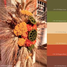Nature inspired the colonists, and it still inspires use today! Interior Trim, Interior Paint, Colour Pallette, Color Combos, Benjamin Moore Paint, Paint Samples, Colonial Williamsburg, Green Mountain, Green And Brown