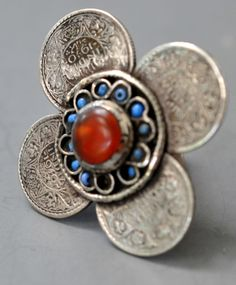 multi coin ring with carnelian probably from Pakistan or Afghanistan (private collection Linda Pastorino)