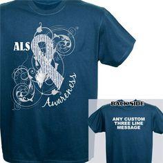 Personalized ALS Awareness Ribbon T-Shirt