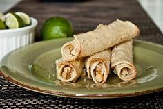 baked honey-lime chicken taquitos. Good, but needs more heat