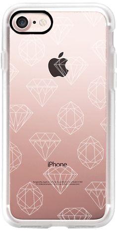Casetify iPhone 7 Classic Grip Case - White diamonds by Strawberringo #Casetify