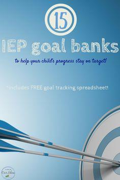 IEP goal banks