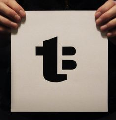 This logo uses negative space very well to create the B against the T. This is a personal logo using initials. The top black part of the b can easily be seen as the right part of the cross of the t, but it blends very well. Corporate Design, Brand Identity Design, Branding Design, Corporate Branding, Monogram Logo, Initials Logo, Self Branding, Logo Branding, Typography Logo