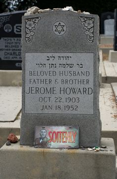 """Jerome Lester """"Jerry"""" Horwitz - Better known by his stage name Curly Howard, was an American comedian and vaudevillian actor. He was best known as the most outrageous member of the American slapstick comedy team The Three Stooges, which also featured his older brothers Moe Howard and Shemp Howard and actor Larry Fine."""