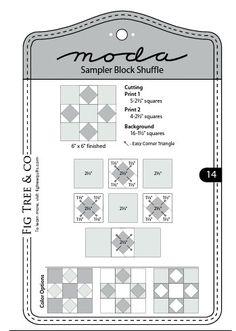 Moda Sampler Block Shuffle  -  Block # 14