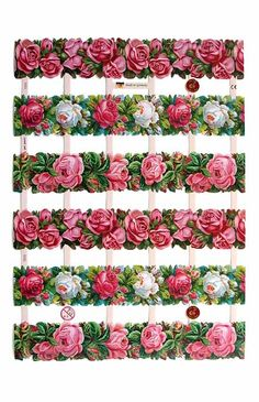 Made n Germany rose borders for paper crafting