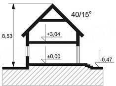 Przekrój pionowy projektu Opałek II N Beautiful House Plans, Beautiful Homes, Brick Siding, Duplex House Design, My Dream Home, Sweet Home, New Homes, How To Plan, Home Decor