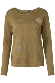 Glamping | Fall collection | Sweater | Pailletten | Olive Green