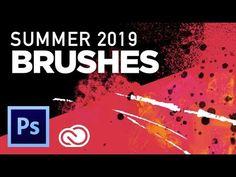 Photoshop Summer 2019 Brush Update Photoshop Effects, Adobe Photoshop, Free Brushes, Photoshop Tutorial, Textures Patterns, Helpful Hints, Make It Yourself, Summer, Tutorials