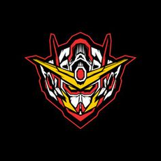 Robot Head With Sacred Geometry Vector Illustration Gundam Head, Gundam Art, Vector Robot, Vector Art, Robot Logo, Gundam Wallpapers, Frame Arms Girl, Sports Logo, T Rex
