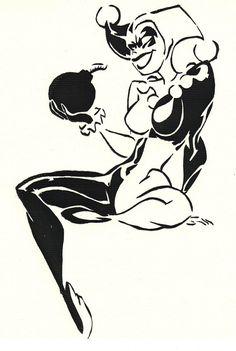 Harlequin - Harley Quinn Batman Stencil Print