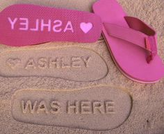 """cutest flip flops ever! """"was here"""" for the beach #vacation #sandals #gifts"""