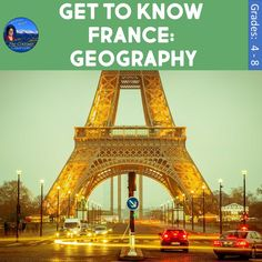 Get to Know France: Geography features French political and physical geography. You get two separate files - one is perfect for display to the class in a full color pdf eleven slide show covering the geography of France. The other file contains all the pages the students will need throughout this study. You get a map activity, a checklist rubric, cloze notes, 2-column notes, a study guide, and a test.