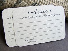 """Actual review: """"I just received these today and I love them!!! They will be perfect for my wedding. Thank You so much."""" 100 Wedding Advice for the Bride and Groom by SAEdesignstudio"""
