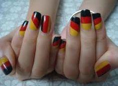 German Flag Nail Art