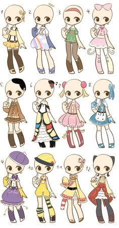 Guess who's back for a bit! This loser here ayyy As you can see the first row is more casual While the second row is based off sweets hehe <3 PRICES VARY ACCORDING TO HOW LONG IT TOOK ME TO MAKE...