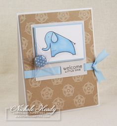 Welcome Little One Card by Nichole Heady for Papertrey Ink (November 2008)