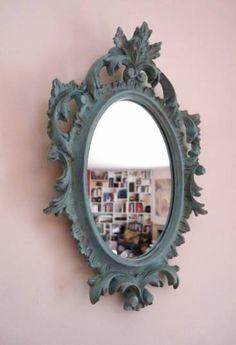 Miroir vintage baroque italien en plâtre
