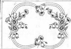 Kurdele Nakışı: Nakış Desenleri Ribbon Embroidery, Embroidery Stitches, Embroidery Patterns, Sketch 4, Tole Painting Patterns, Stencils, Wreath Crafts, Calligraphy Art, Stitch Design
