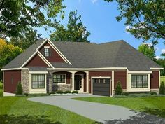 ePlans Ranch House Plan – Cozy Traditional Ranch – 1508 Square Feet and 3 Bedrooms from ePlans – House Plan Code HWEPL77982