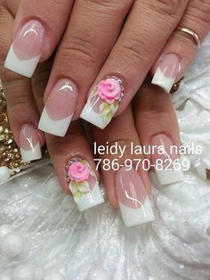 15 años French Nails, Fingers, My Nails, Manicure, Nail Designs, Nail Art, Pretty, Beauty, Encapsulated Nails