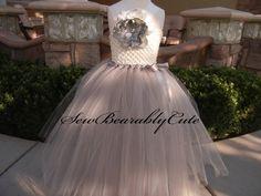 Sliver and Ivory Flower Girl Dress by SewBearablyCute on Etsy, $60.00