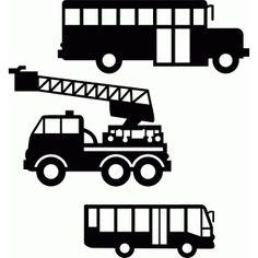 Silhouette Design Store - View Design #75556: transport construction set 1