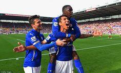 Stoke City Leicester City: Ulloa scores the the winner Leicester City Football, Leicester City Fc, Stoke City, Barclay Premier League, English Premier League, Seasons, Foxes, Club, Black