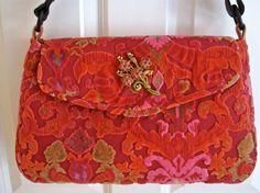 Velvet Chenille Handbag
