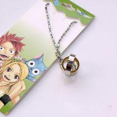 Wholesale Fairy Tail vintage Necklaces 5pcs/lot 2 decks rotatable Pendants anime merchandise men women fashion jewelry gift
