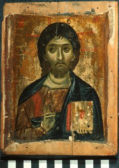 Christ Pantokrator, Date:Unknown, encaustic on panel; The Sinai Icon Collection, Princeton University Byzantine Icons, Byzantine Art, Vatican Library, Church Interior, Icon Collection, Art Icon, Orthodox Icons, Old Art, Christian Art