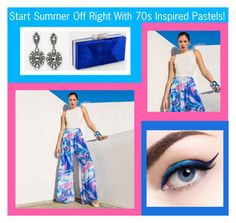 """""""Start Summer Off Right With 70s Inspired Pastels!"""" by edressme ❤ liked on Polyvore featuring eDressMe, Julian Chang, L'Oréal Paris and Camille la Vie"""