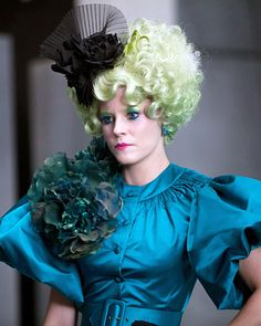 'Hunger Games' Fashion: Effie's Most Outrageous Looks - Peacock-like Perfection from #InStyle