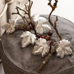 Weihnachtsschmuck 6er Set Feuilles in Blätterform #loberon #christmas #Xmas #Weihnachten