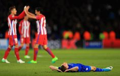 Photo              Leicester City's Jamie Vardy, on the ground, had a different reaction than the Atletico players after their 1-1 draw.                                      Credit             Richard Heathcote/Getty Images                      LEICESTER, England — Leicester City's fairytale...  http://usa.swengen.com/atletico-madrid-ends-leicester-citys-champions-league-run/