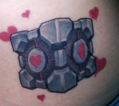 Weighted Companion Cube Portal. possible idea for nerdy tat...