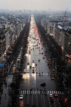 Champs-Elysees in the rain