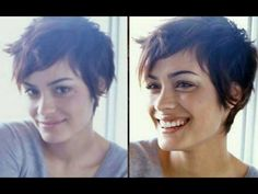 Pixie Cut I love this chick and her hair is perfect Pixie Hairstyles, Pixie Haircut, Hairstyles With Bangs, Pretty Hairstyles, Short Hair Cuts, Short Hair Styles, Grunge Hair, Great Hair, Hair Today