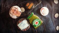 Heineken Beer Mini Bottle Pin by HauntedHairCandy on Etsy