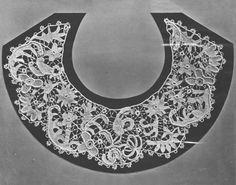 Collar, crochet, 1850-5, Irish.