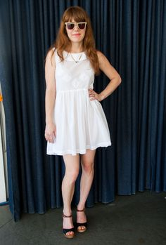 The adorable Jenny Lewis at Madewell's Coachella Pool Party