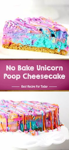 No Bake Unicorn Poop Cheesecake – Home › Uncategories › No Bake Unicorn Poop Cheesecake oz packages cream cheese cup. Best Dessert Recipes, Delicious Desserts, Cake Recipes, Healthy Desserts, Drink Recipes, Healthy Recipes, No Bake Treats, No Bake Desserts, Oreo