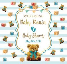 Baby Shower Step and Repeat Shower Step, Baby Shower, Red Carpet Backdrop, Sale Emails, Event Banner, Repeat, Teddy Bear, Templates, Babyshower