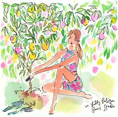 Make the world a brighter place   Lily Pullitzer, Vines, Lilly Pulitzer Prints, Estilo Preppy, Love Lily, Watercolor Paintings, Watercolours, Painting Inspiration, Illustration Art