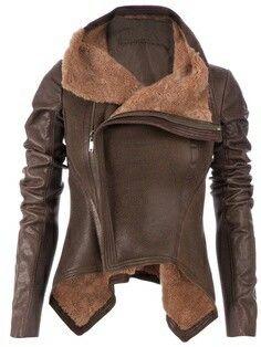 d9fd81dc525ed Jacket Brown Jacket, Leather Jacket Brown, Pu Jacket, Leather Biker Jackets,  Sweater
