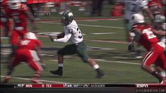 GIF: Ohio's Devin Bass pulls off magical cartwheel during kickoff return : Gamedayr Football Gif, Ohio State Football, American Football, College Football, K Board, Sports Pictures, Facebook Instagram, Read Books, Email Address